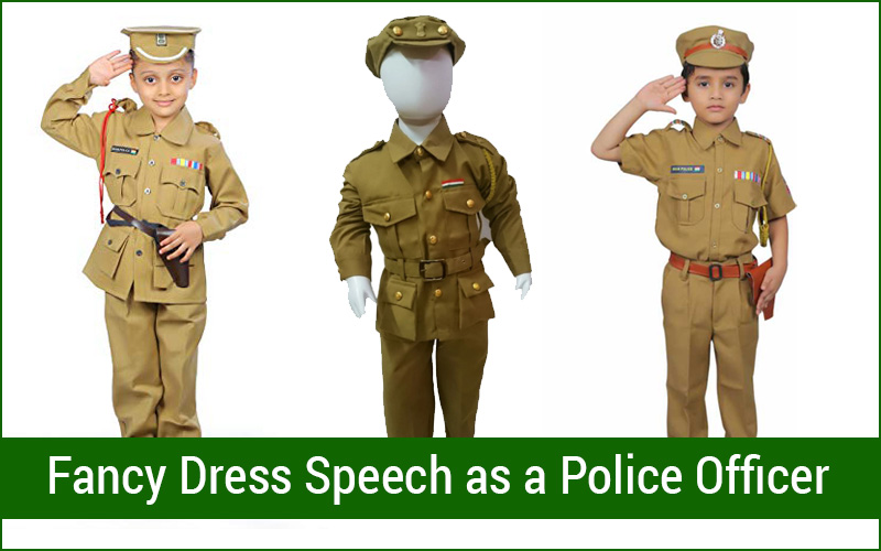 Fancy Dress Speech as a Police Officer