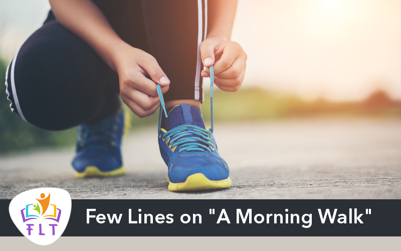 "Few Lines on ""A Morning Walk"""