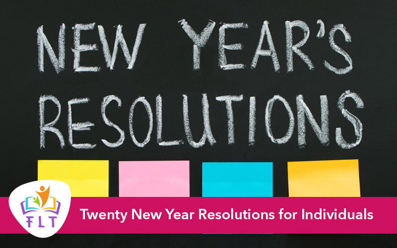 Twenty New Year Resolutions for Personal growth